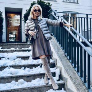 Die Bloggerin Bibi Horst zeigt uns wundervolle winterliche Hausfassaden in München Bogenhausen.